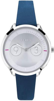 Furla 31mm Metropolis Watch w/ Leather Strap, Blue