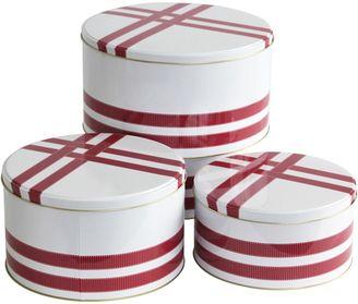 Primo Grosgrain Round Cake Tin (Set of 3), Raspberry