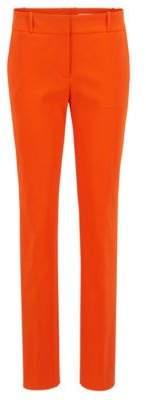 BOSS Hugo Regular-fit pants in a stretch virgin-wool 12 Orange