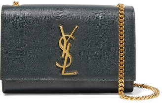 Saint Laurent Monogramme Kate Small Textured-leather Shoulder Bag - Emerald