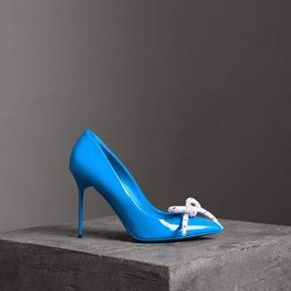 Burberry The Patent Leather Rope Stiletto