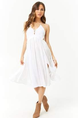 Forever 21 Boho Me Macrame Halter Dress