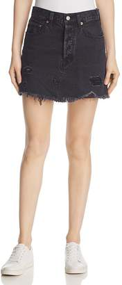 Levi's Deconstructed Denim Mini Skirt in Gimme Danger