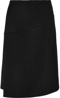 Cefinn - Wrap-effect Twill Skirt - Black