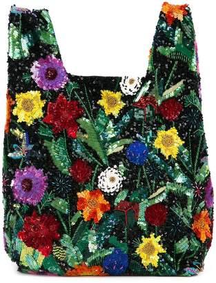 Ashish sequin floral print tote bag