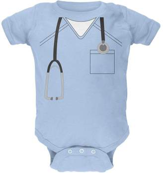 Old Glory Halloween Doctor Scrubs Costume Soft Baby Crewneck One Piece Light 12 Month