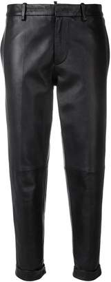 DSQUARED2 cropped leather trousers