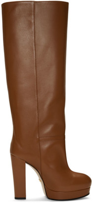 Gucci Brown Platform Boots