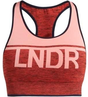LNDR A Team Logo Jacquard Performance Bra - Womens - Pink