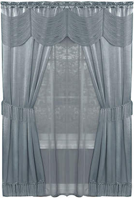 Asstd National Brand Halley 6-pc. Sheer Rod-Pocket Curtain Set