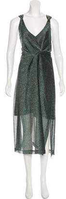 By Malene Birger Metallic Evening Dress