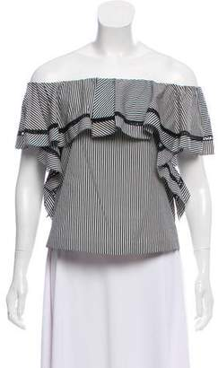 Rachel Zoe Striped Off-The-Shoulder Blouse w/ Tags