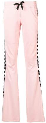 Versus check detail track trousers