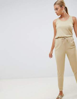 Missguided Sleeveless Tie Waist Jumpsuit