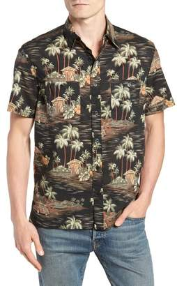 J.Crew J. Crew Wallace & Barnes Regular Fit Tropical Print Sport Shirt