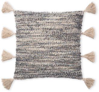 Loloi Grey Tassel Pillow