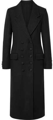 Burberry Double-breasted Cashmere Coat - Black