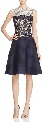Tadashi Shoji Pintuck Fit-and-Flare Dress - 100% Exclusive $368 thestylecure.com