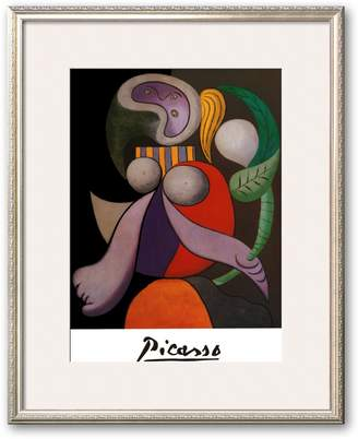 """Art.com Femme a La Fleur, c.1932"""" Framed Art Print by Pablo Picasso"""