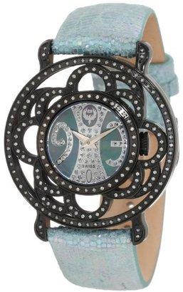 Brillier レディース04 – 11121 – 04-bl Papillonスイスクォーツマザーオブパール腕時計