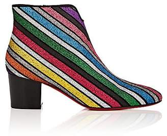 Christian Louboutin Women's Disco 70s Glitter-Striped Ankle Boots