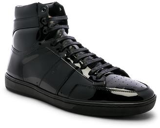 Saint Laurent Flat Heel Leather Hi-Tops