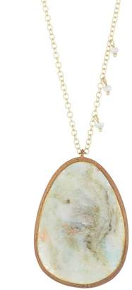 Meira T 14K Yellow Gold Amazonite Necklace
