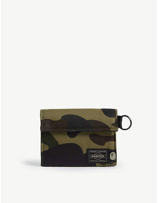 A Bathing Ape Porter 1st Camo nylon wallet