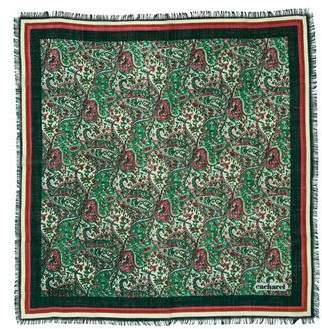 Cacharel Wool Paisley Scarf