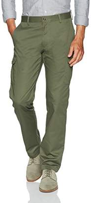 Louis Raphael Men's s Flat Front Cotton Blend Cargo Pant