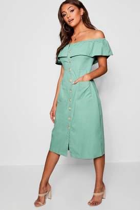 3c69c77ed60 Off The Shoulder Denim Dress - ShopStyle UK