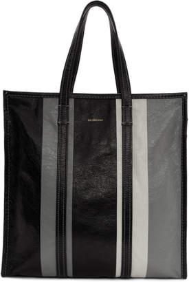 Balenciaga Black and Grey Medium Bazar Shopper Tote b2198ab437d2e