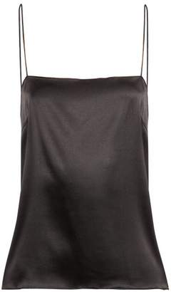 Alexandre Vauthier Scoop Back Satin Cami Top - Womens - Black