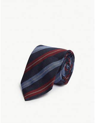 Eton Diagonal stripe silk-blend tie