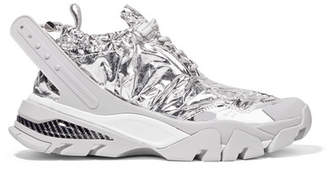 Calvin Klein Caramene Metallic Shell And Rubber Sneakers - Silver