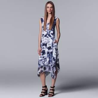 Vera Wang Women's Simply Vera Print Handkerchief Tank Dress
