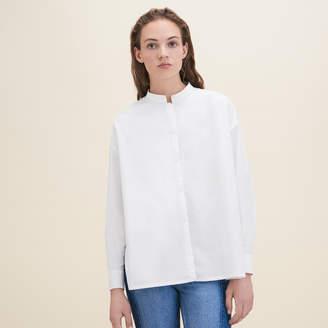 Maje Asymmetric poplin shirt