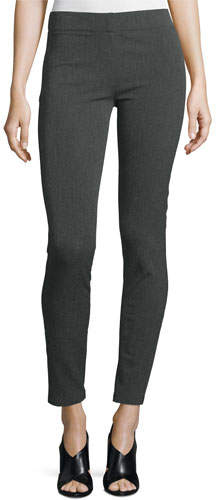 JOSEPH Joseph Herringbone Stretch Leggings, Dark Gray
