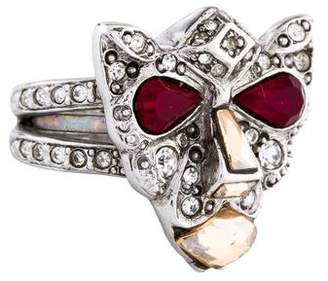Oscar de la Renta Crystal Panther Ring