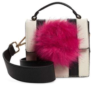 Kaé JULES Mel Faux Fur Pompom Crossbody Bag