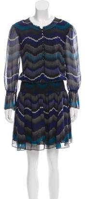 Diane von Furstenberg Silk Mini Abstract Print Dress