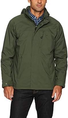 Izod Men's Water Resistant Midweight Jacket with Polar Fleece Lining