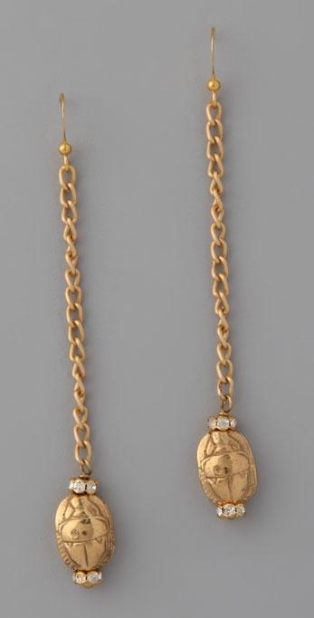 Archive Jewelry Scarab Earrings