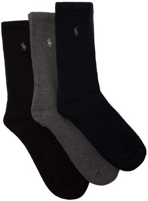 Polo Ralph Lauren Set of three logo-embroidered socks