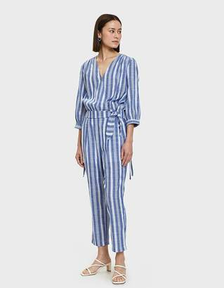 Farrow Josa Wrap Top in Blue Stripe
