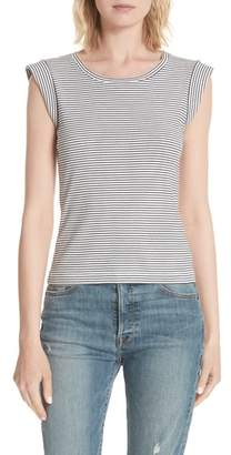 Rebecca Taylor Stripe Sleeveless Cotton Top