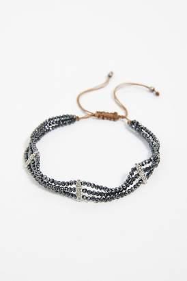 Feathered Soul Diamond Three Row Bracelet