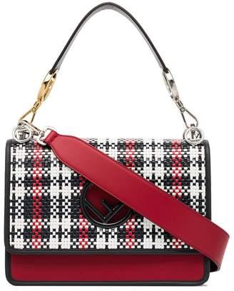 Fendi Kan I F woven leather shoulder bag