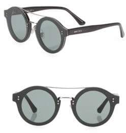 Jimmy Choo Jimmy Choo Montie 64MM Round Glitter Sunglasses