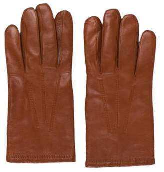 Christian Dior Leather Cashmere Lined Gloves Leather Cashmere Lined Gloves